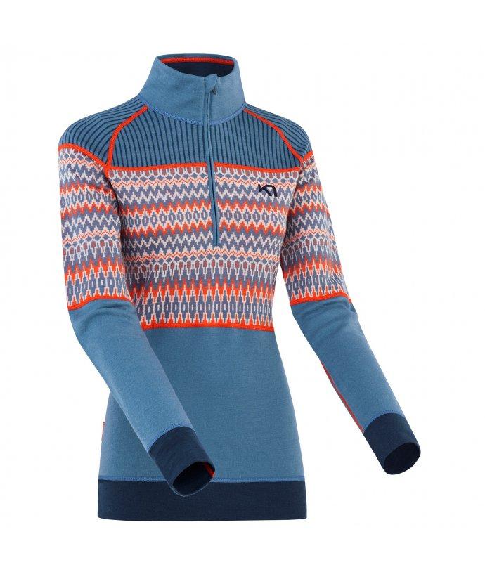 Dámské Merino triko s dlouhým rukávem Kari Traa Silja H/Z